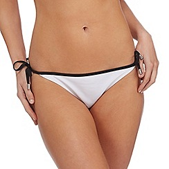 Red Herring - White tie side bikini bottoms