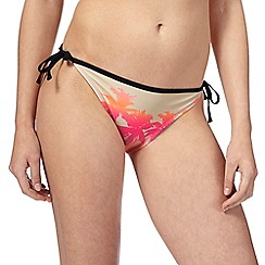 Red Herring - Orange sunset print bikini bottoms
