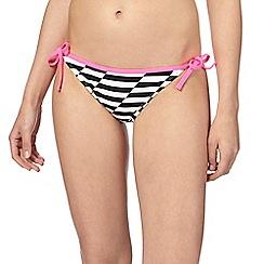 Red Herring - Black striped bikini bottoms