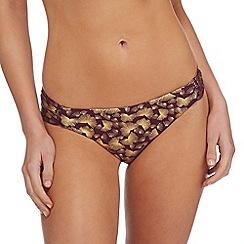 Butterfly by Matthew Williamson - Purple patterned bikini bottoms