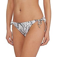 Reger by Janet Reger - Grey snake tie side bikini bottoms