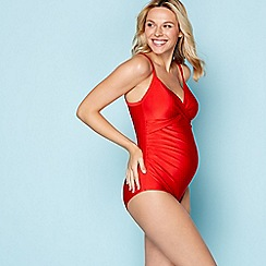 Beach Collection - Red maternity swimsuit