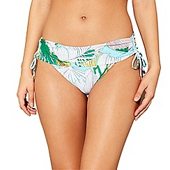 Beach Collection - Multi-coloured linea palm print bikini bottoms