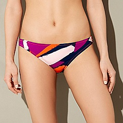 J by Jasper Conran - Multi-coloured geometric print bikini bottoms