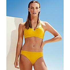 J by Jasper Conran - Yellow ruche bikini top