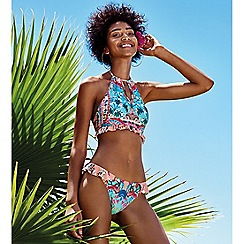 Floozie by Frost French - Multi-coloured floral print 'Fairytale' halterneck bikini top