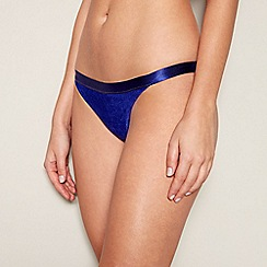 Faith - Purple velvet bikini bottoms