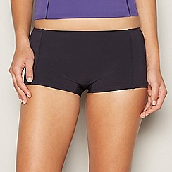 Beach Collection - Black piped shorts