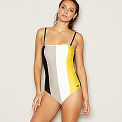 J by Jasper Conran - Multicoloured stripe pattern padded bandeau swimsuit
