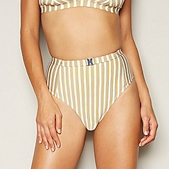 J by Jasper Conran - Multicoloured sideline stripe high waisted bikini bottoms