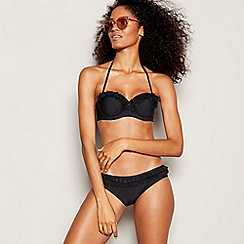 Floozie by Frost French - Black Spot Mesh Underwired Padded Bikini Top