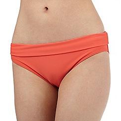 Beach Collection - Coral folded waistband bikini bottoms