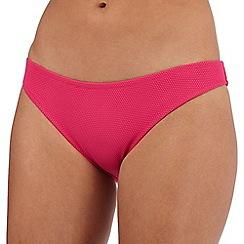 Reger by Janet Reger - Pink textured dot bikini bottoms