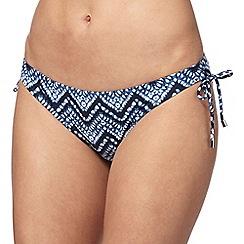 Beach Collection - Blue ikat print bikini bottoms