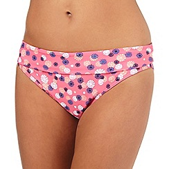 Beach Collection - Pink dandelion print  bikini bottoms
