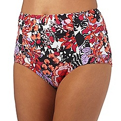 Beach Collection - Pink oriental blossom tummy control bottoms