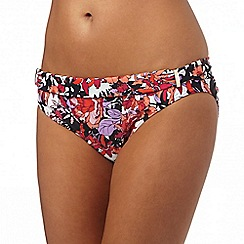 Beach Collection - Pink oriental blossom fold bottoms