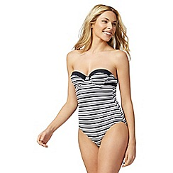 J by Jasper Conran - Black and white stripe one piece swimsuit