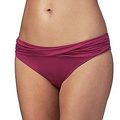 Reger by Janet Reger - Dark pink ruched bikini bottoms