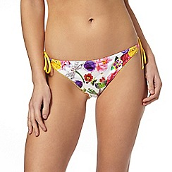 Floozie by Frost French - White English garden bikini bottoms