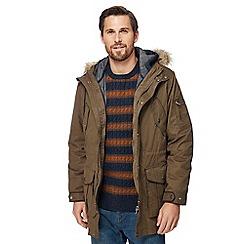 RJR.John Rocha - Big and tall khaki faux fur trim 3-in1 parka coat