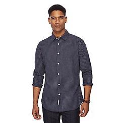 RJR.John Rocha - Big and tall blue dobby grid check shirt