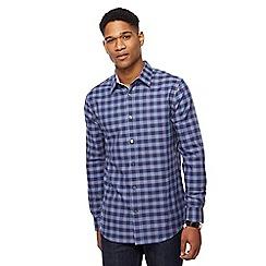 RJR.John Rocha - Big and tall purple checked tailored fit shirt