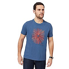 RJR.John Rocha - Blue embroidered circle t-shirt