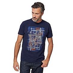 RJR.John Rocha - Navy abstract square print t-shirt