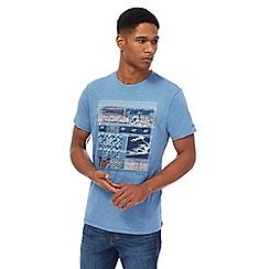 RJR.John Rocha - Big and tall blue printed t-shirt