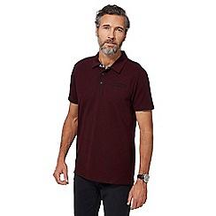 RJR.John Rocha - Big and tall dark red marl polo shirt