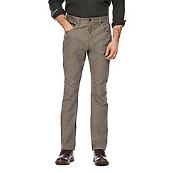 RJR.John Rocha - Big and tall brown textured trousers
