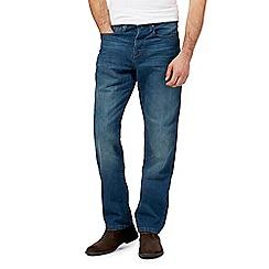 RJR.John Rocha - Big and tall blue vintage wash straight leg jeans