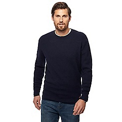 RJR.John Rocha - Navy textured crew neck jumper
