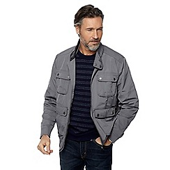RJR.John Rocha - Big and tall light grey harrington jacket