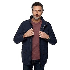RJR.John Rocha - Big and tall navy funnel neck jacket