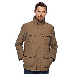 RJR.John Rocha - Big and tall taupe funnel neck jacket