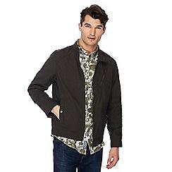 RJR.John Rocha - Dark grey regular biker jacket