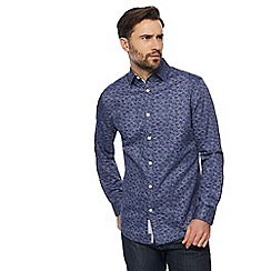 RJR.John Rocha - Big and tall purple sateen patterned tailored fit shirt