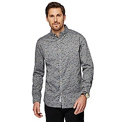 RJR.John Rocha - Big and tall grey floral print tailored fit shirt