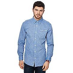 RJR.John Rocha - Big and tall blue long-sleeved shirt