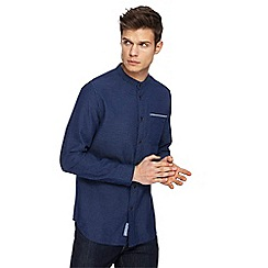 RJR.John Rocha - Big and tall blue textured granddad shirt
