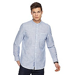 RJR.John Rocha - Big and tall blue textured stripe grandad shirt