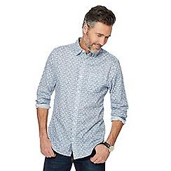 RJR.John Rocha - Big and tall blue floral print tailored fit shirt