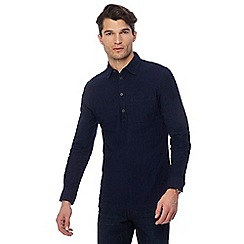 RJR.John Rocha - Navy Dobby textured tailored fit shirt