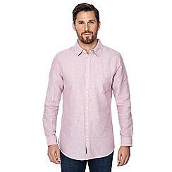 RJR.John Rocha - Pink striped linen blend tailored fit shirt