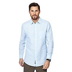 RJR.John Rocha - Blue striped linen blend tailored fit shirt