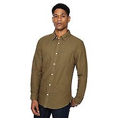 RJR.John Rocha - Khaki linen blend tailored fit shirt