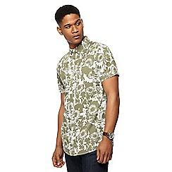 RJR.John Rocha - Khaki floral print tailored fit shirt