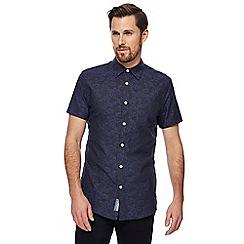 RJR.John Rocha - Big and tall navy floral jacquard tailored fit shirt